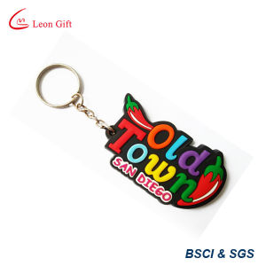 Factory Custom 3D Hamburger Rubber PVC Key Chain Keyring pictures & photos