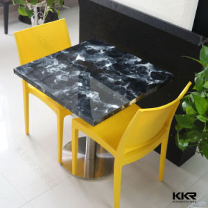 Kingkonree Modern Square Solid Surface Dining Table pictures & photos