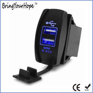 Motorcycle Use 3.1A Dual USB Charger (XH-UC-024) pictures & photos