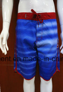 4 Way Swimming Shorts Beach Wear Polyester/Cotton Boardshorts of Man pictures & photos