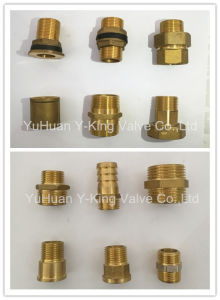 Brass Extensionconnector Pipe Fitting (YD-6009) pictures & photos