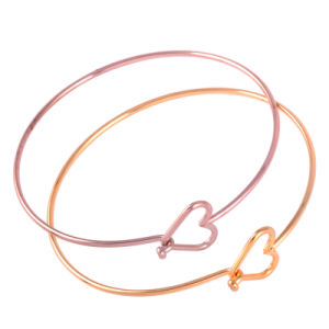 Adjustable Heart Puff Round Bangle DIY Expandable Wire Bracelets pictures & photos