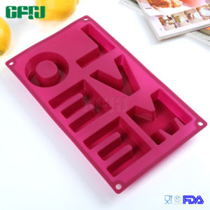 DIY Soap/Chocolate/Fondant Cake/Embossed Printing Mould Silicone Molds Love Me pictures & photos