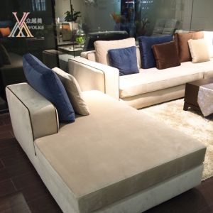Blue and off-White Color Fabric Living Room Modern Sofa (GC812) pictures & photos