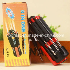 Multifunction 8 In1 Screwdriver with LED Light pictures & photos