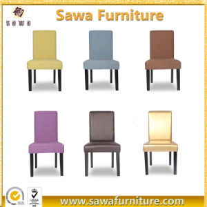 High Back Wood Imitation Fabric Upholstered Chairs pictures & photos