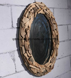 Solid Wooden Decoration to The Hotel Bathroom Cafe Bars Make up The Corridor Wall Hanging Oval Mirror Can Be Customized (M-X3759) pictures & photos