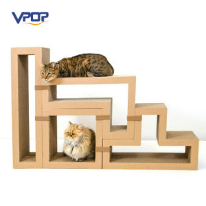 Factory Manufacturer Modular Cat Scratching Blocks Cardboard Cat Scratcher pictures & photos