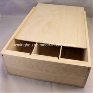 Gift 3 Bottle Pine Wine Box Large Capacity for Storage pictures & photos
