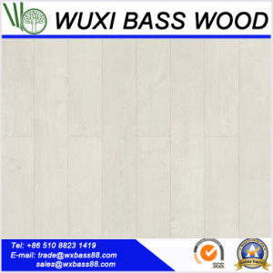 Semi Gloss Snow White Laminate Flooring pictures & photos