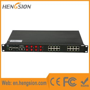 Managed 28 Ports Fiber Industrial SFP Ethernet Network Switch pictures & photos