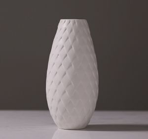 Geometrical Feather Ceramic Flower Vase for Indoor Decoration pictures & photos