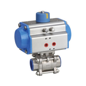 High Quality Pneumatic Actuated Stainless Steel Flanged Ball Valve pictures & photos