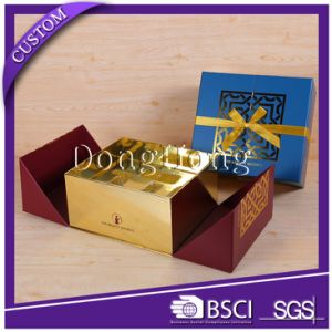 Gold Ribbon Decorative Handmade Cardboard Perfume Box Design pictures & photos