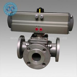 ANSI150 Flange End Pneumatic Stainless Steel Ball Valve pictures & photos