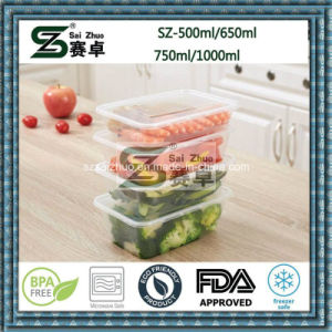 Clear Single Compartment Disposable Plastic Food Container Lunch Box (SZ-L-750ML) pictures & photos