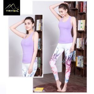 New Arrival Backless Tank Top Women Stringer Yoga Vests pictures & photos