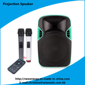"Professional Wireless Battery 12"" Karaoke LED Projection Speaker - Projector pictures & photos"