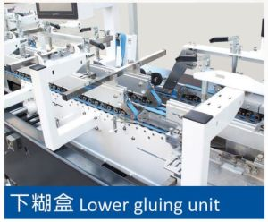 Pizza Box Gluer Folder Machine for Gluing Four Six Point pictures & photos