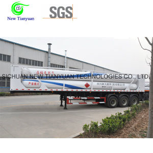 Jumbo 12-Tube Skid CNG Transportaion Semi-Trailer pictures & photos
