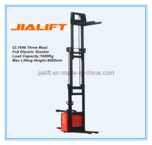 Good Quality Full Electric Stacker Cl1646 with Ce&ISO9001 pictures & photos