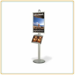 Automobile Show Poster Holder with Single Sign Rack (E06P13) pictures & photos