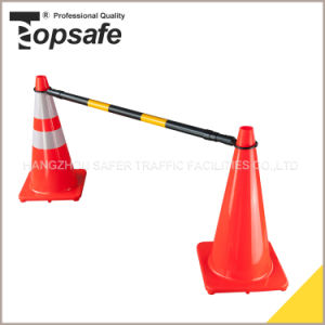 Black Pipe and Yellow Reflective Tape Traffic Cone Bar (S-1482) pictures & photos