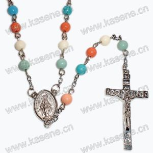 Acrylic Colorful Rosary, Rosary Bracelet