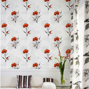 Made in China Cheap Price Wholesale Wall Paper Living Room Modern Design Flower Wallpaper 3D pictures & photos