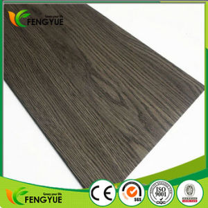 Vinyl Decorative Black Wood Pattern Lock PVC Floor pictures & photos