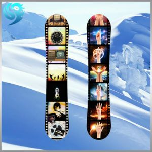 Poplar Wood Colorful Printed Design Wholesale Snowboard pictures & photos
