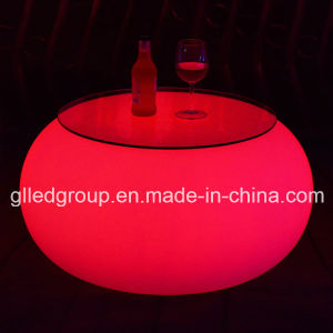 Modern LED Illuminated Furniture Round Coffee Table Used for Nightclub Furniture