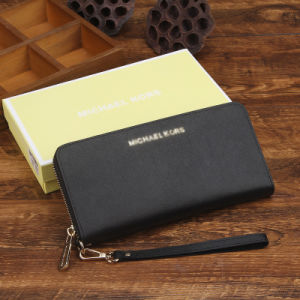 Lady Woman Zipper Multi Card Holders Clutch Genuine Leather Wallet pictures & photos