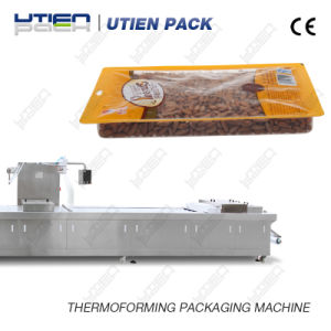 Automatic Thermoforming Packaging Line with Multihead Weighing Loading System for Pinenuts pictures & photos