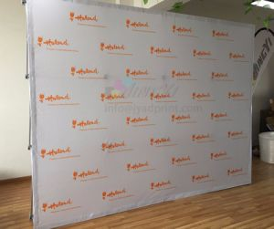 TOP Quality 3X4(8X10FT) Fabric POP up Folding Backdrop Display Banner pictures & photos