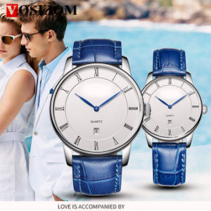 Yxl-019 2016 Fashion Leather Bezel Band Quartz Dw Wrist Man Watch with Single Date pictures & photos