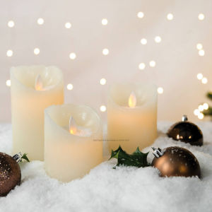 Indoor Christmas Warm White LED Flameless Flickering Wax Candles pictures & photos