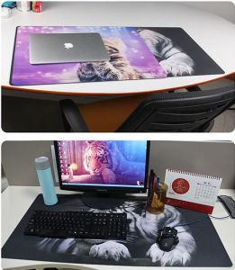 Custom Large Size Rubber Gaming Mouse Pad for Keyboard pictures & photos