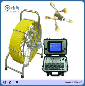 Waterproof Pan and Tilt Sewer Camera Robot Pipe Line Video Inspection Camera CCTV Inspection Equipment with 512Hz Transmitter pictures & photos