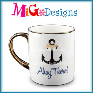 High Quality White Ceramic Mugs with Custom Design pictures & photos
