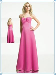 Pink Long Wedding Gown Floor Length Bridal Dress pictures & photos