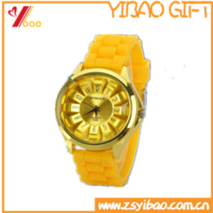 Custom Fashion Design Waterproof Silicone Watch (YB-AB-002) pictures & photos