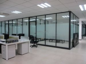 Modern Office Wooden Aluminum Glass Partition Wall (NS-NW085) pictures & photos