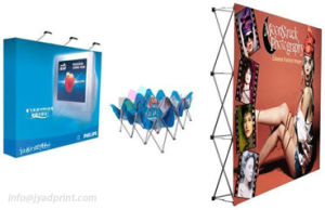 Economic Aluminum Magnetic Fabric Pop Up Display Banner Backdrop Stand pictures & photos