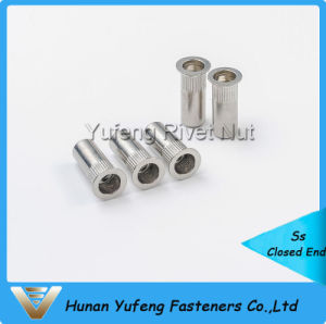Stainless Steel Flat Head Knurled Body Closed End Rivet Nut pictures & photos