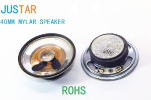 40mm Mylar Cone Speaker 4-16ohm 0.5-2W with RoHS pictures & photos