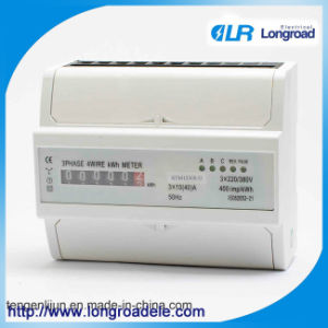 Model Dts256b DIN-Rail Mount Three Phase Electronic Kilowatt Meter(RS485/Modbus/ Infrared Communication pictures & photos