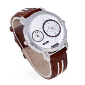 Japan Biquartz Movement Leather Wristband Alloy Case Watch pictures & photos
