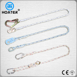 High Quality En354 1.5-1.8m Safety Belt Rope with Carabiner pictures & photos