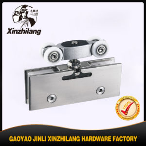 Satin Finish Hanging Glass Clamp for Sliding Glass Door pictures & photos